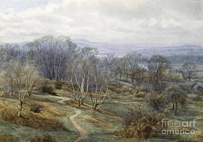 Hampstead Heath Looking Towards Harrow On The Hill Poster by Edith Martineau