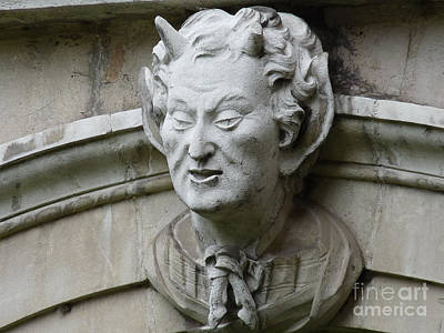 Hampton Court Palace Gargoyle Poster by Deborah Smolinske
