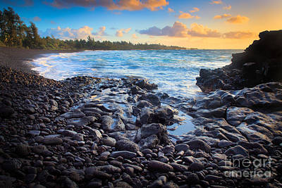Hana Bay Sunrise Poster by Inge Johnsson