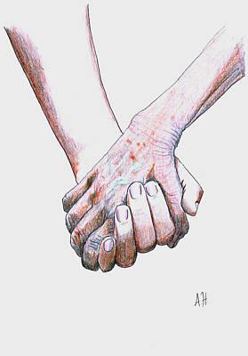 Hand In Hand Poster by Amani Al Hajeri
