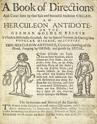 Handbill For Scurvy Cure Poster by British Library