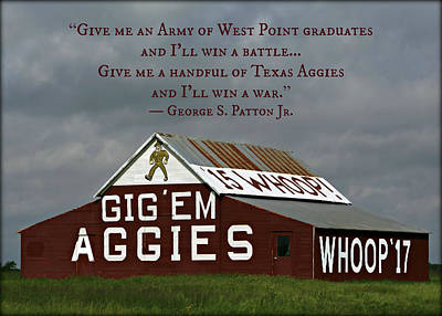 Handful Of Aggies Poster by Stephen Stookey