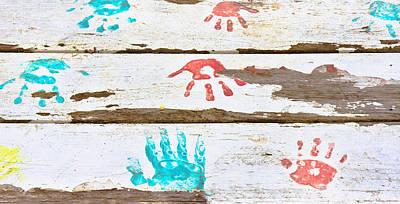 Handprints Poster by Tom Gowanlock