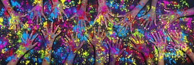 Hands Of Colour Poster by Tim Gainey