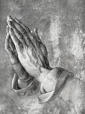Hands Of Prayer  1508 Poster by Daniel Hagerman