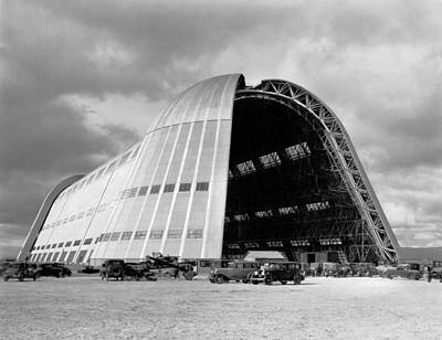 Hangar One At Moffett Field Poster by Underwood Archives