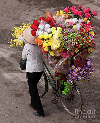 Hanoi Flowers 01 Poster by Rick Piper Photography