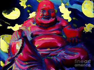 Happy Budda Poster by John Malone