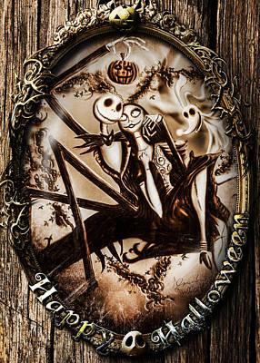 Happy Halloween IIi Sepia Version Poster by Alessandro Della Pietra
