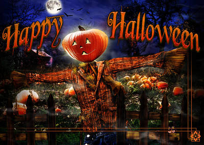Happy Halloween Iv Poster by Alessandro Della Pietra
