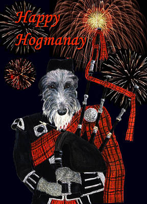 Happy Hogmanay Poster by Stephanie Grant