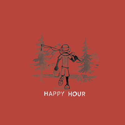 Happy Hour Fish Poster by Life is Good