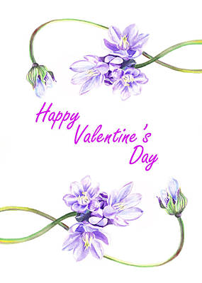 Happy Purple Valentine Poster by Irina Sztukowski