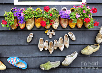 Happy Wooden Shoes Poster by Carol Groenen