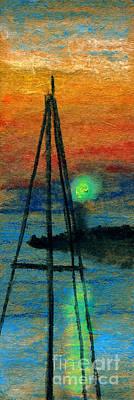Harbor Light Poster by R Kyllo
