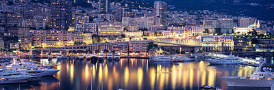 Harbor Monte Carlo Monaco Poster by Panoramic Images