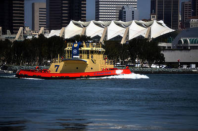 Harbor Tug Poster by See My  Photos