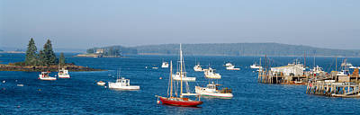 Harbor View Of Lobster Village Poster by Panoramic Images