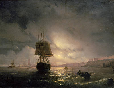 Harbour At Odessa On The Black Sea, 1852 Poster by Ivan Konstantinovich Aivazovsky