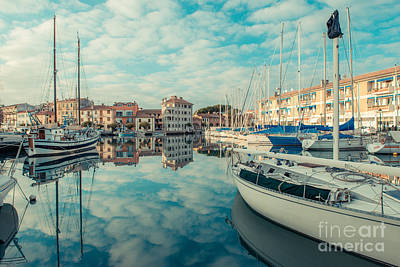 Harbour Of Grado Poster by Hannes Cmarits