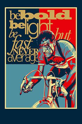 Hard As Nails Vintage Cycling Poster Poster by Sassan Filsoof