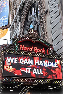 Hard Rock Cafe New York Poster by Valentino Visentini