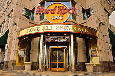 Hard Rock Cafe Poster by Frozen in Time Fine Art Photography