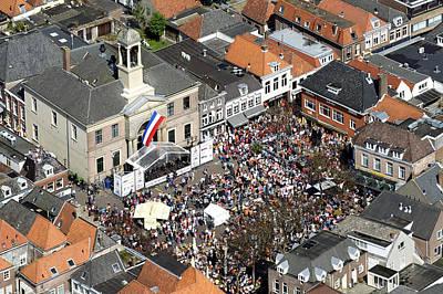 Harderwijk Market, Gelderland Poster by Bram van de Biezen