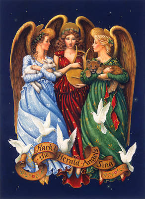 Hark The Herald Angels Sing Poster by Lynn Bywaters