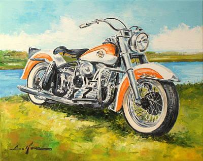 Harley Davidson 1958  Poster by Luke Karcz