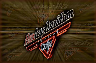 Harley Davidson Poster by Susan Candelario
