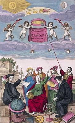 Harmonica Macrocosmica (1708) Poster by Science Photo Library