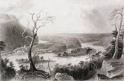 Harpers Ferry, West Virginia, From The History Of The United States, Vol. II, By Charles Mackay Poster by William Henry Bartlett