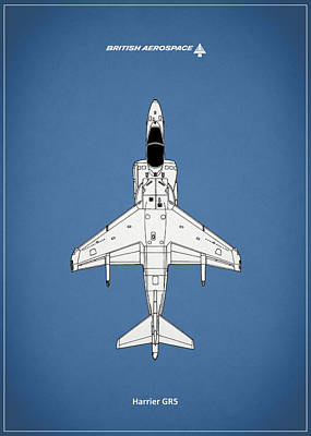 Harrier Gr5 Poster by Mark Rogan