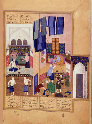 Harun Al-rashid And The Barber Poster by British Library