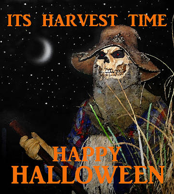 Harvest Time Happy Halloween Poster by David Lee Thompson