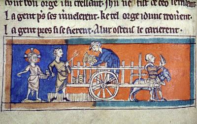 Harvesting Scene, C1325 Poster by Granger