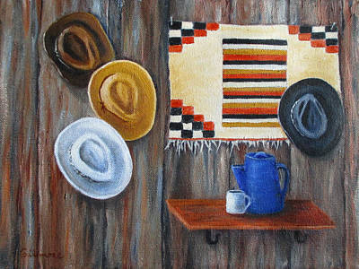 Hats Poster by Roseann Gilmore