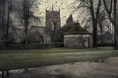 Haunted Village Poster by Svetlana Sewell