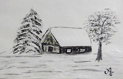 Haus Im Schnee Poster by Ariane Hessenius