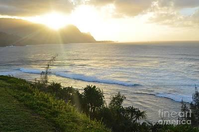 Hawaii - Bali Hai Sunset Poster by Greg Cross