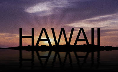 Hawaii Tropical Sunset Poster by Aged Pixel