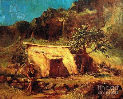 Hawaiian And His Home Poster by Pg Reproductions