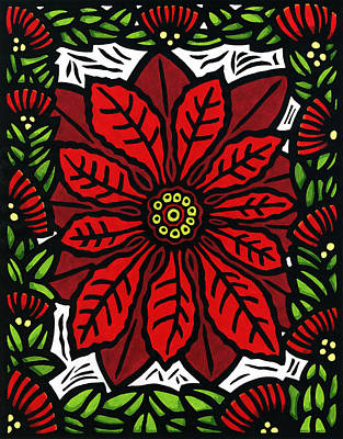 Hawaiian Christmas Joy Poster by Lisa Greig