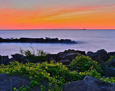 Hawaiian Sunset Poster by Frozen in Time Fine Art Photography