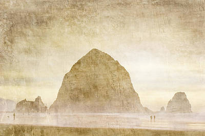 Haystack Rock Poster by Carol Leigh