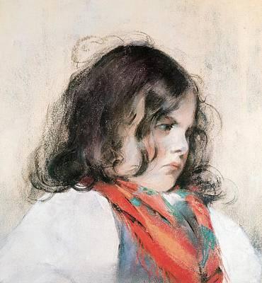 Head Of A Child Pastel On Paper Poster by Mary Stevenson Cassatt