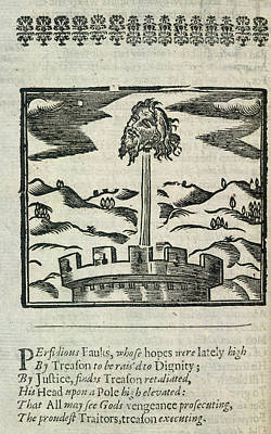 Head Of Guy Fawkes Poster by British Library