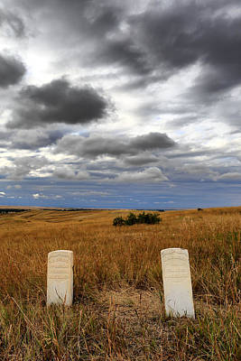 Headstones Little Bighorn Battlefield Mt Poster by Troy Montemayor