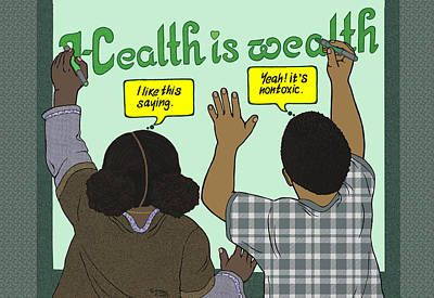 Health Is Wealth Poster by Emory Douglas